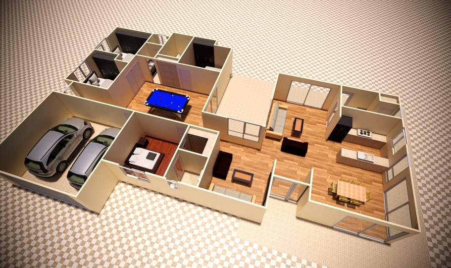 One Storey Kit Homes Plan D