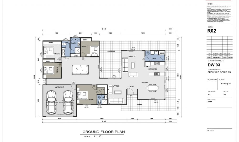 One Storey Kit Homes Plan