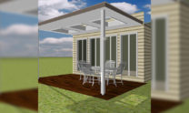Patio Pergola Kit Insulated Sun Lit 01