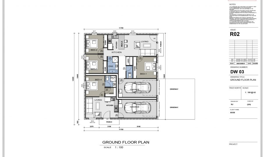 Duplex Design Home Plan – Duk