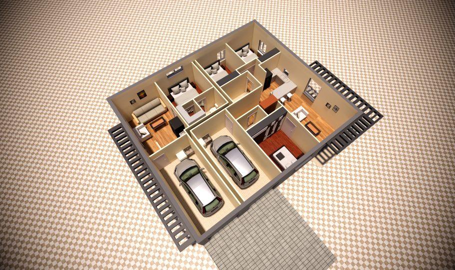 Duplex Design Home Plan – Duk D