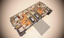Duplex Design Home Plan – D
