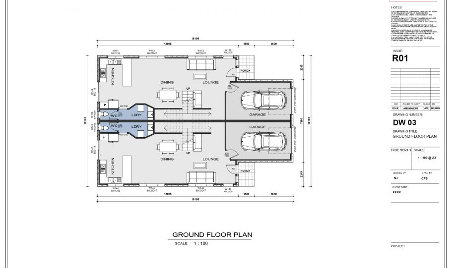 Duplex Design Home Plan – A