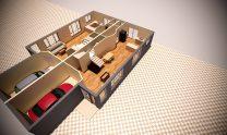 Duplex Design Home Plan – A D