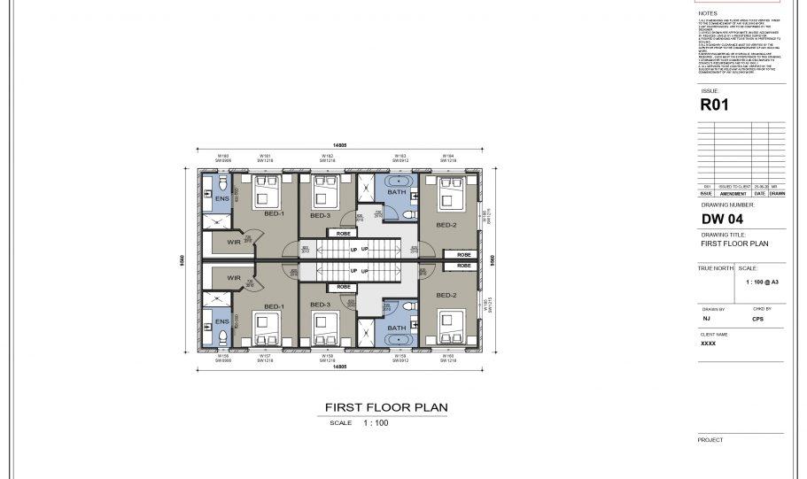 Duplex Design Home Plan – B