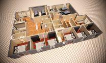Duplex Design Home Plan – T D