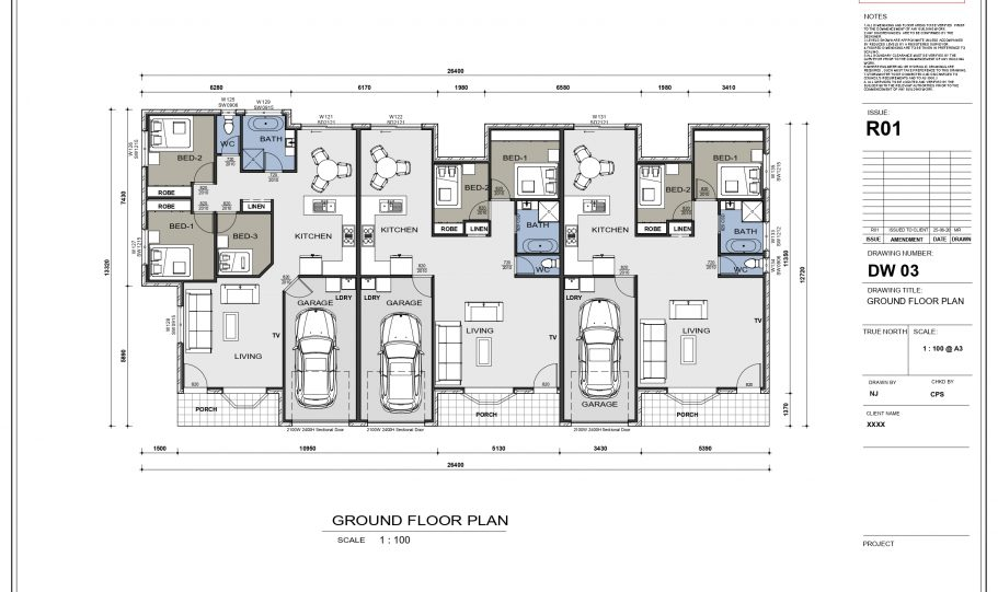 Duplex Design Home Plan – Duk