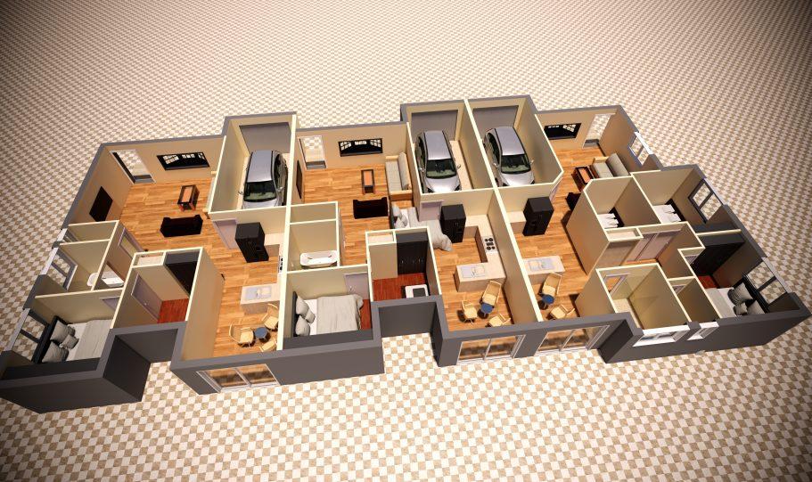 Duplex Design Home Plan – Td D