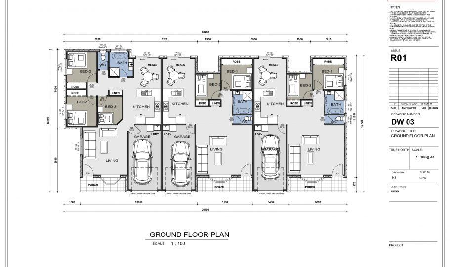 Duplex Design Home Plan – Td