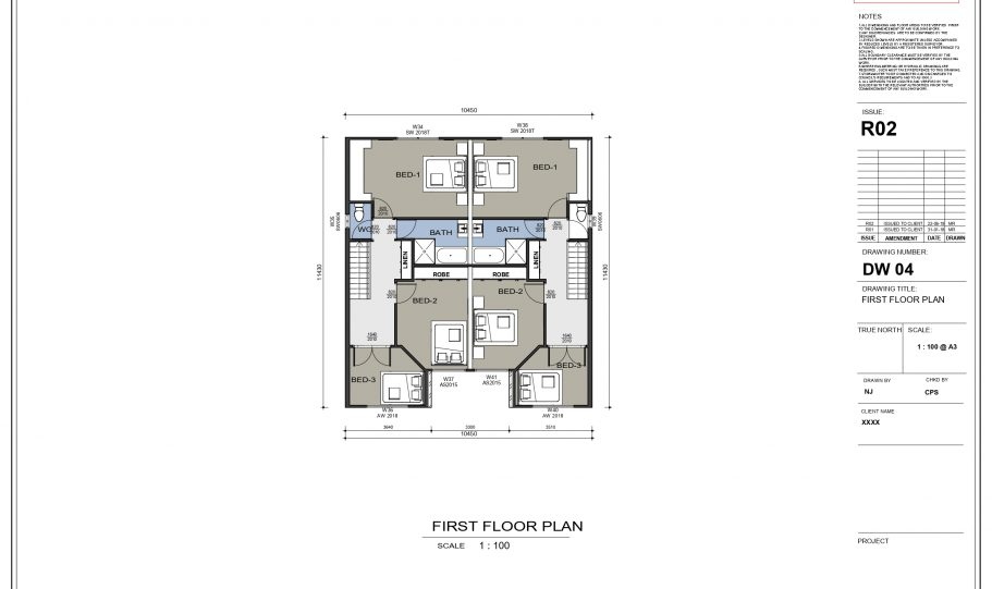 Duplex Design Home Plan – Th