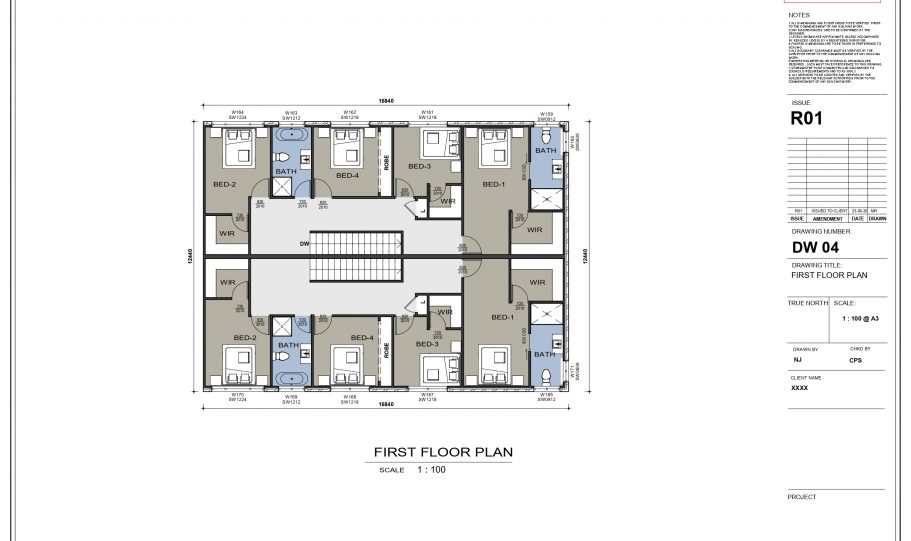 Duplex Design Home Plan – N
