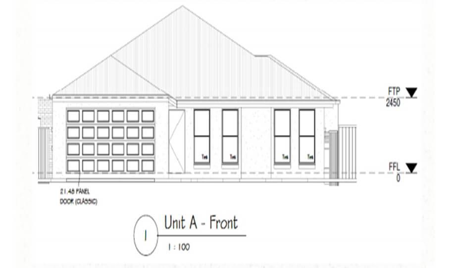 Duplex Design Plan 295 DUK 03