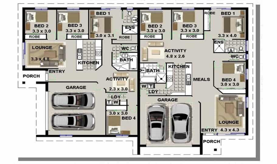 Duplex Design Plan 318 T 01