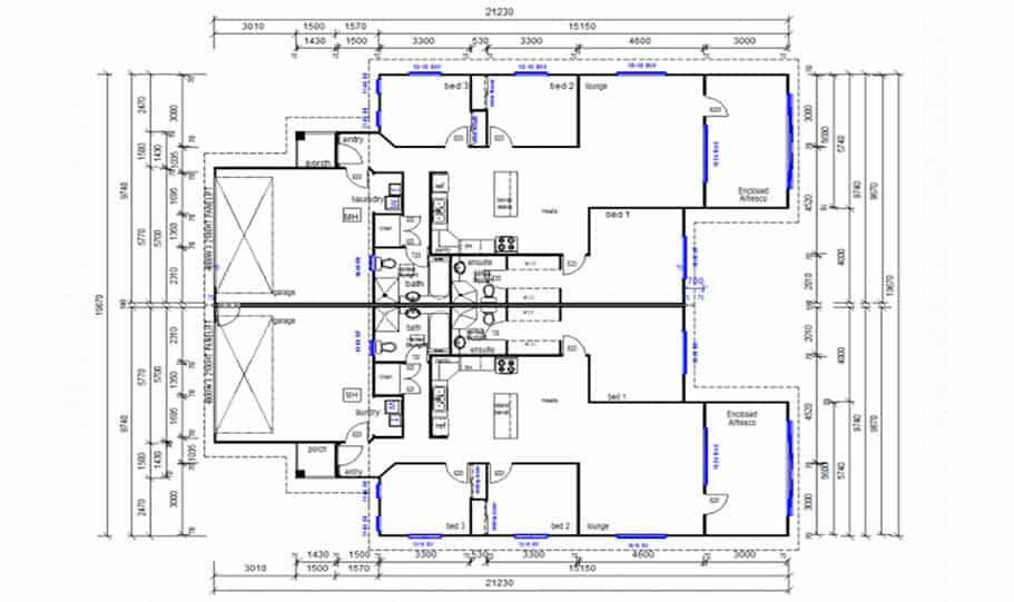 Duplex Design Plan 376 DUK 02