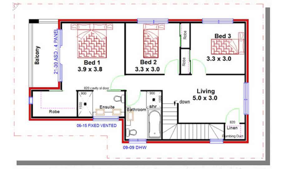 Duplex Kit Home Design Plan 213 02