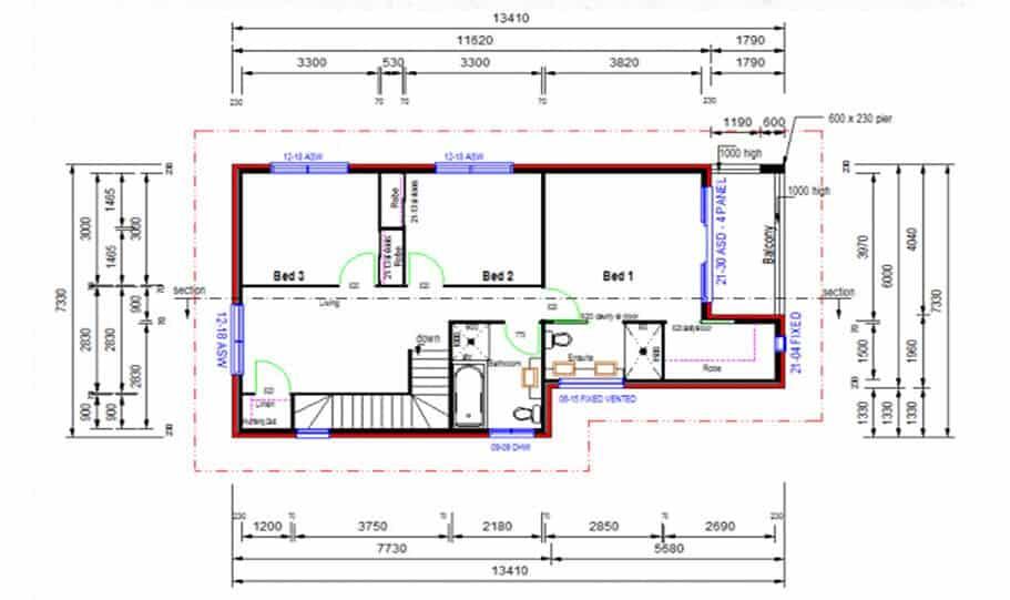 Duplex Kit Home Design Plan 213 04
