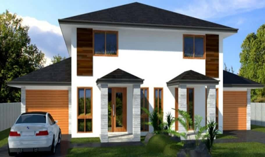 Duplex Kit Home Design Plan 297B 07