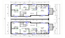 Duplex Kit Home Design Plan 299T 03