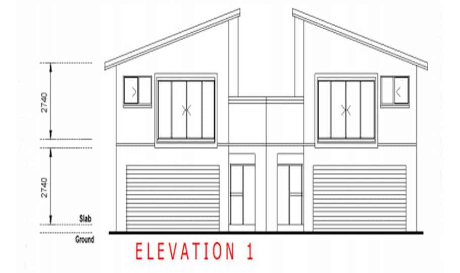 Duplex Kit Home Design Plan 299T 05