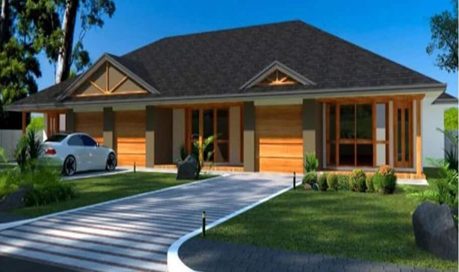 Duplex Kit Home Design Plan 345 TD 07