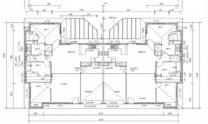 Duplex Kit Home Plan 234DUK 234.2m2 6 Bedrooms 2 Bath 3