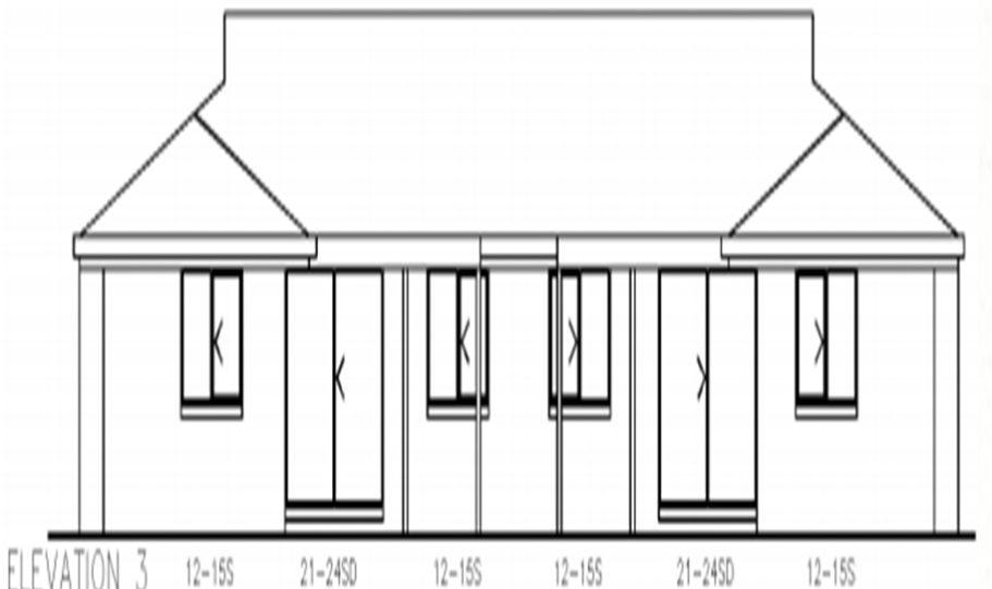Duplex Kit Home Plan 234DUK 234.2m2 6 Bedrooms 2 Bath 6