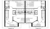 Duplex Kit Home Plan 380TH 380m2 12 Bedrooms 4 Bath 3