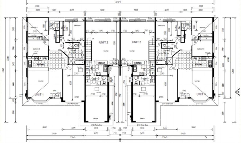 Duplex Kit Home Plan 380TH 380m2 12 Bedrooms 4 Bath 4