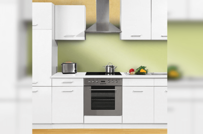 Flat pack block kitchen cabinet set