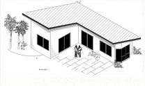 One Bedroom Granny Flat Cum Office Plan No M