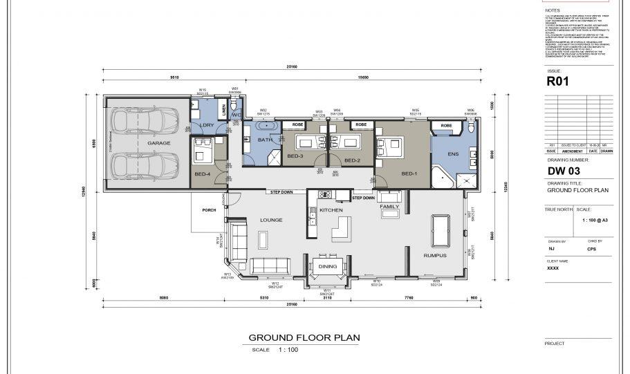 One Storey Kit Homes Plan – N