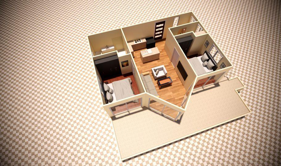 One Storey Kit Homes Plan A D
