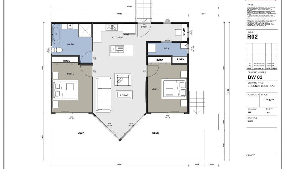 One Storey Kit Homes Plan A