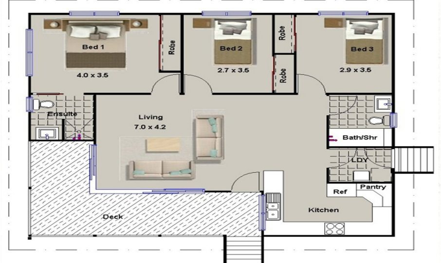 One Storey Kit Homes Plan 112 112m2 3 Bed 2 Bath 8
