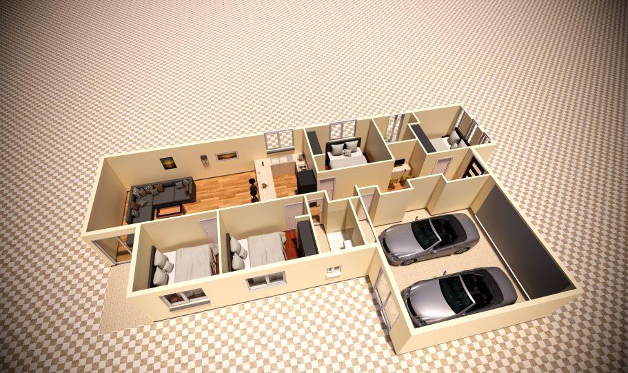 One Storey Kit Homes Plan D