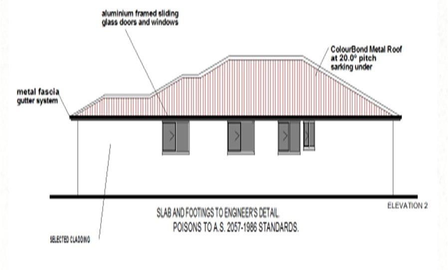 One Storey Kit Homes Plan 232 232.19 m2 4 Bed 2Bath 11