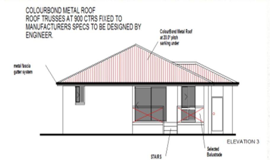One Storey Kit Homes Plan 232 232.19 m2 4 Bed 2Bath 12