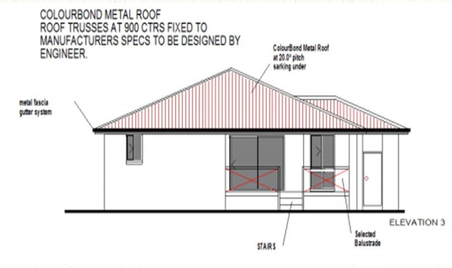One Storey Kit Homes Plan 232 232.19 m2 4 Bed 2Bath 13