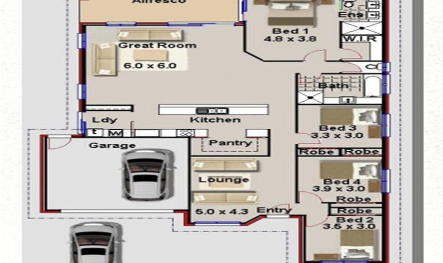 One Storey Kit Homes Plan 232 232.19 m2 4 Bed 2Bath 8