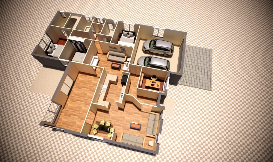 One Storey Kit Homes Plan Jp D