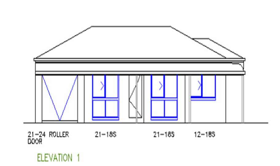 One Storey Plan 127 03