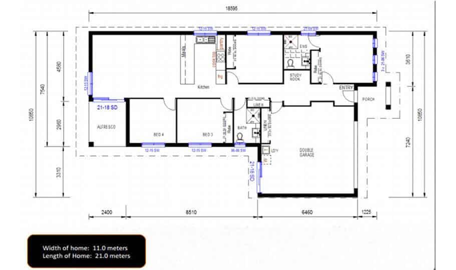 One Storey Plan 159 02