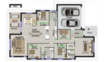 One Storey Plan 220B 01