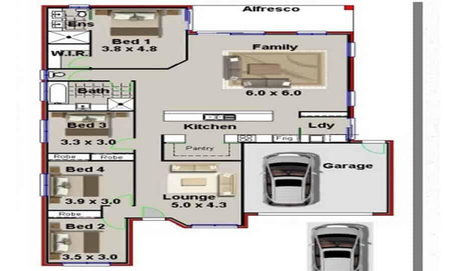 One Storey Plan 227 01