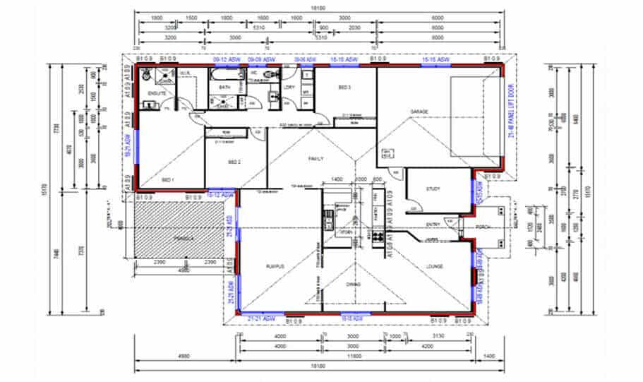 One Storey Plan 250JP 01