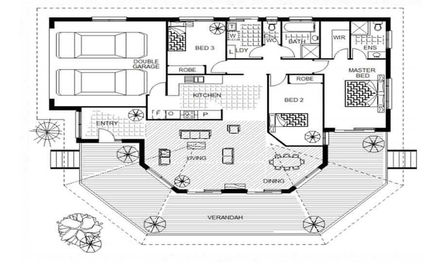 Sloping Land Kit Home Design 134 01