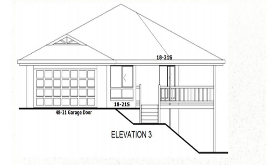 Sloping Land Kit Home Design 134 02