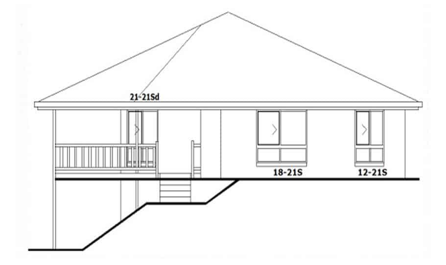 Sloping Land Kit Home Design 134 04