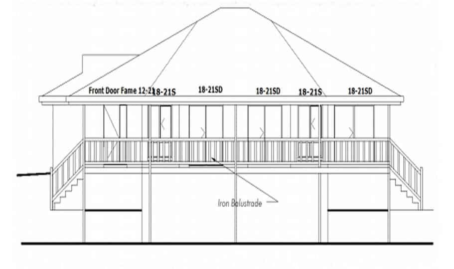 Sloping Land Kit Home Design 134 07