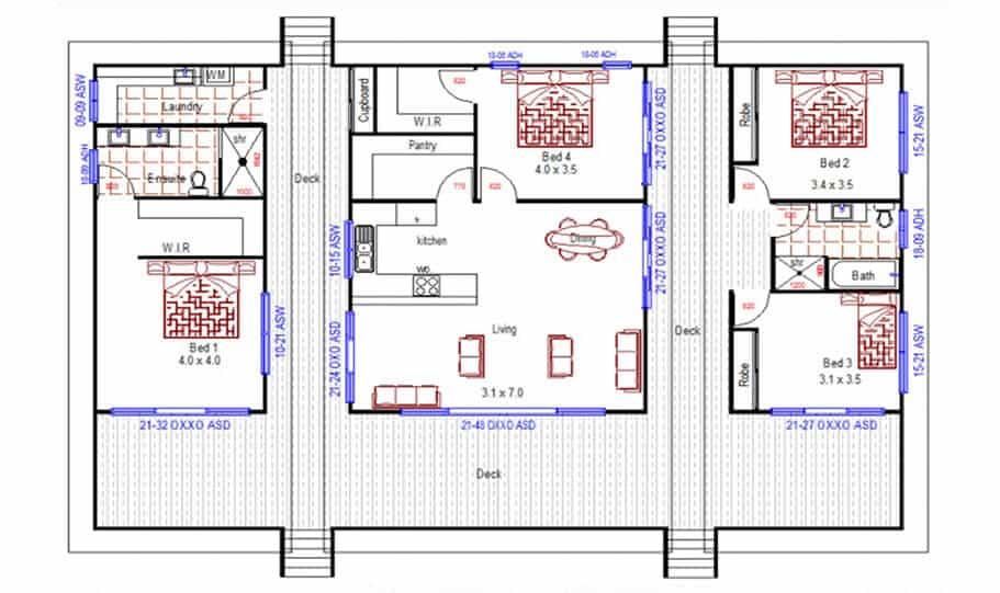 Sloping Land Kit Home Design 222 01